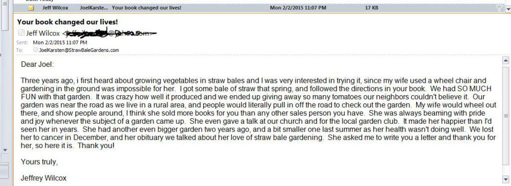 Sometimes an email can give you a lump in your throat!